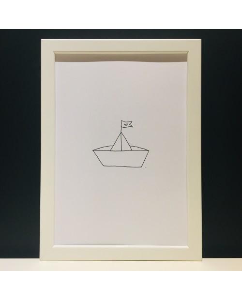 Papierschiffchen | Poster