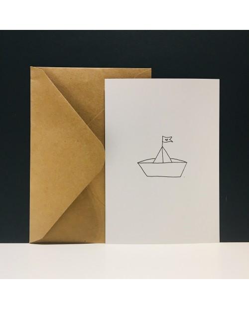 Papierschiffchen | Karte